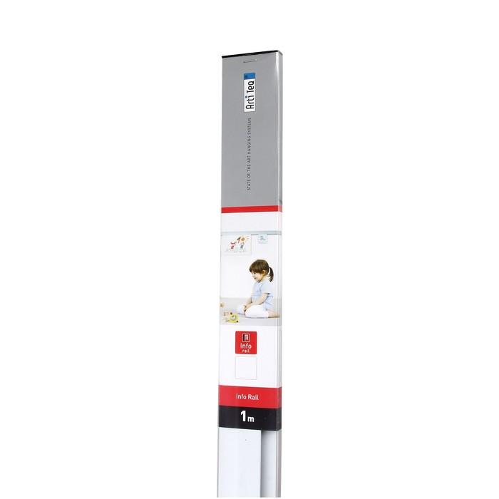 Демонстрационная система ArtiTeq: информационный рельс 100 см, белый - фото 537631639