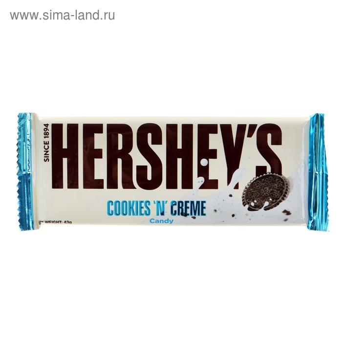 Шок. батончик Hersheys Cookies N Creme 43 г (36)