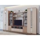 Гостиная Джованна, 3400 × 560 × 2100, Ясень шимо темный/Ясень шимо светлый