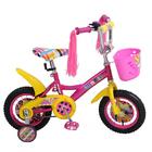 """Велосипед 12"""" Navigator Barbie, 2018, цвет розовый/жёлтый"""