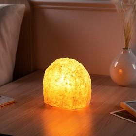 """Соляная лампа """"Феерия Гора"""", цельный кристалл, 14 см"""