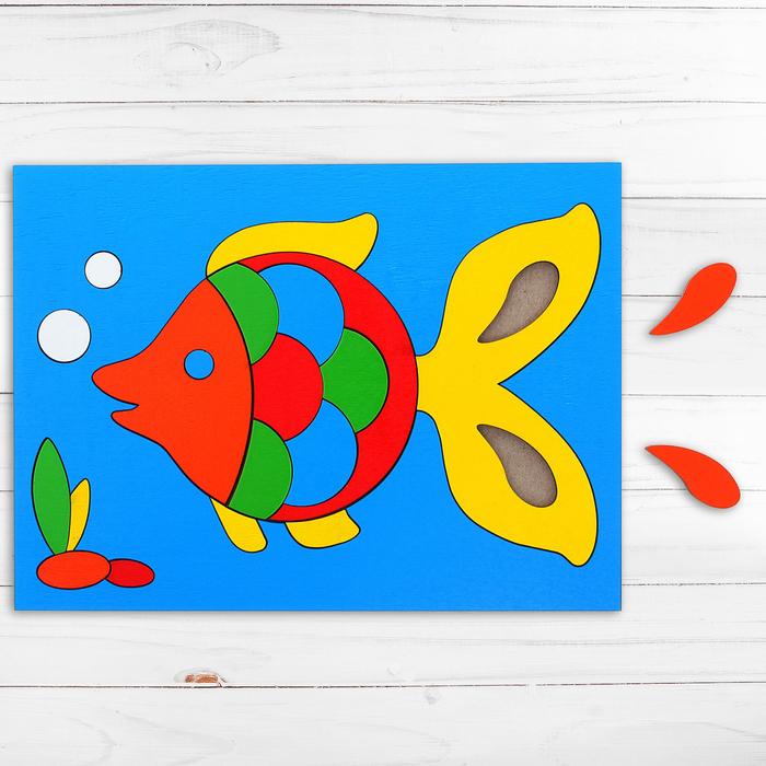 Головоломка «Собери картинку: рыбка», 21 элемент