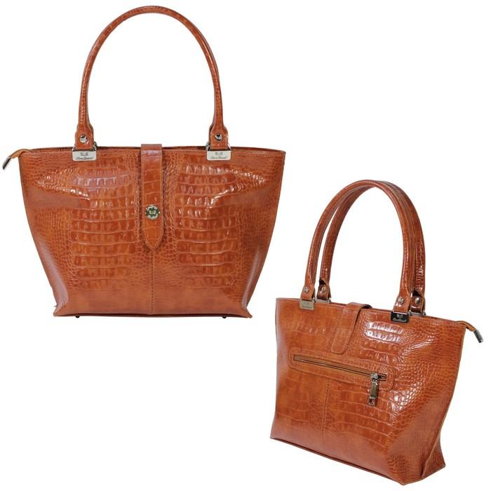 8c011278d147 Сумка женская шопер, натуральная кожа, цвет рыжий в Бишкеке купить цена