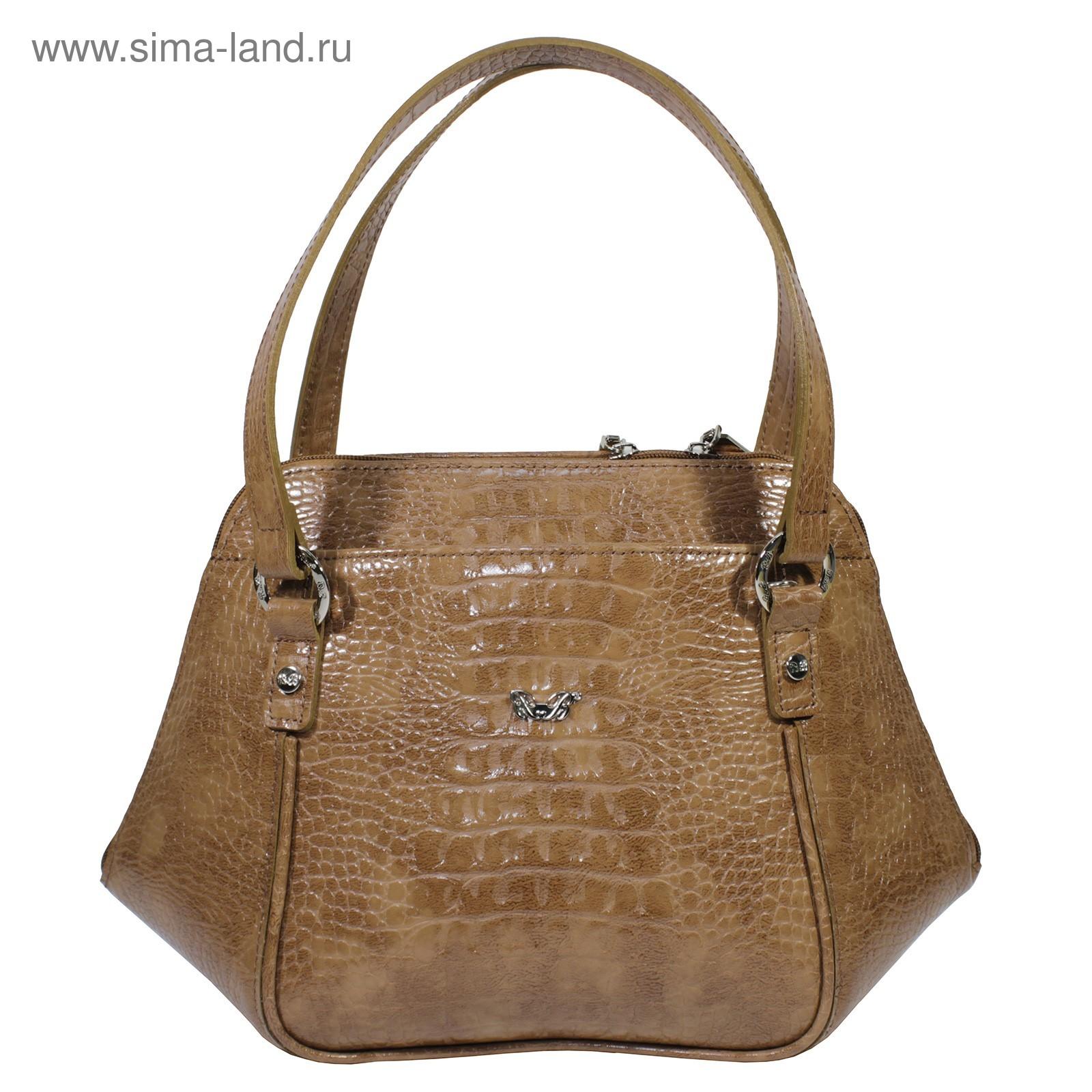 a46af4a75fd2 Сумка женская саквояж, натуральная кожа, цвет коричневый (3609331 ...