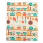 Салфетка для сушки посуды Доляна «Кухня», 40×50 см, микрофибра - фото 693191
