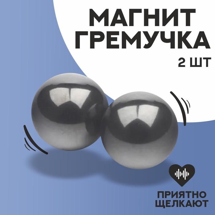 Магнит-гремучка, набор 2 шт, размер магнита 1,3 см
