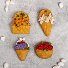 """Magnet Polyresin """"Flowers in basket"""" MIX 7. 5x6 cm"""