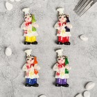 "Magnet Polyresin ""Chef-winemaker"" MIX 8x4 cm"