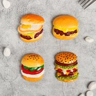 "Magnet Polyresin ""Double hamburger"" MIX 5x5,2 cm"