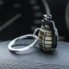 Брелок граната, металл, бронзовый