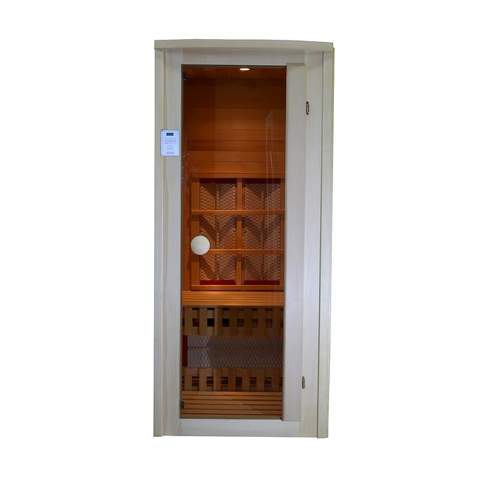 Инфракрасная одноместная сауна с керамическими излучателями, кедр, 900х900х2000 мм
