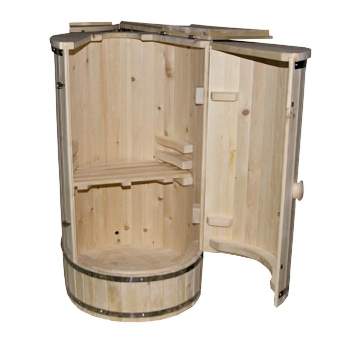 Фитобочка овальная без парогенератора, кедр, 900х760х1360 мм, клепка 20 мм