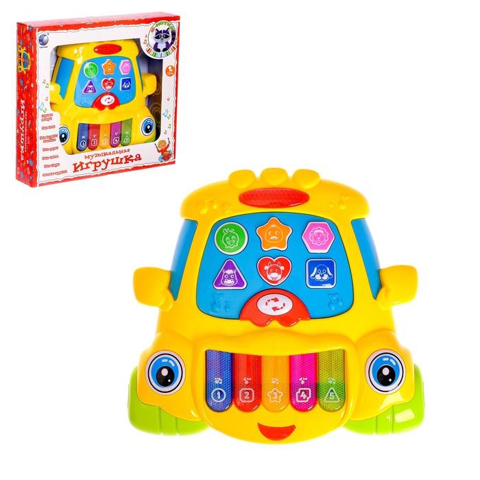 Музыкальная игрушка-ионика «Машинка», забавные мелодии, световые эффекты, русская озвучка, МИКС