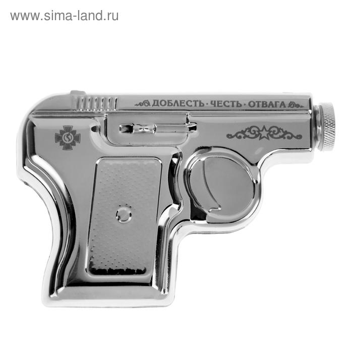 """Фляжка-пистолет 150 мл """"Доблесть, честь, отвага"""""""