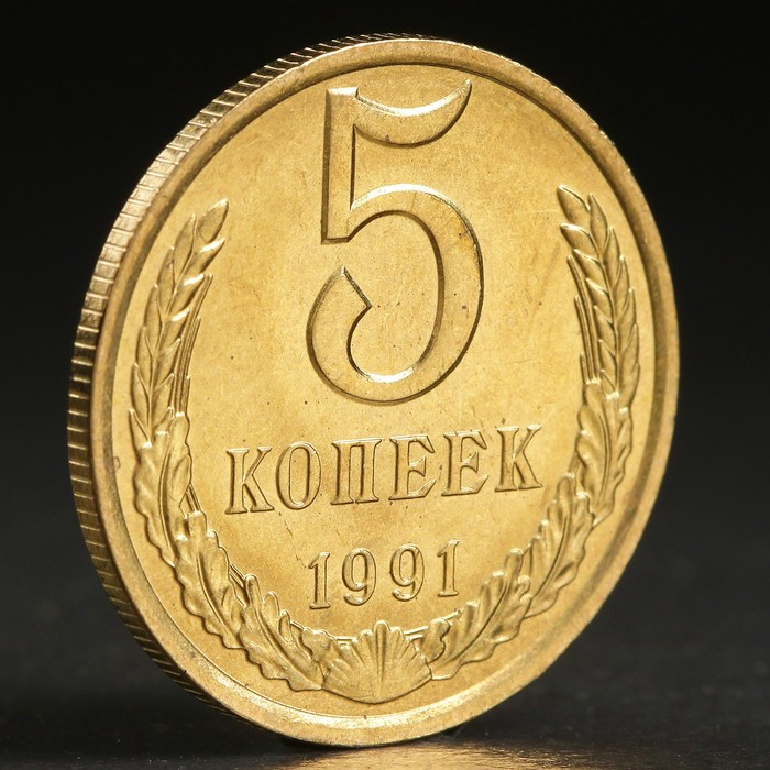 "Монета ""5 копеек 1991 года"" л"