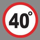 "Наклейка на авто ""40 градусов"""