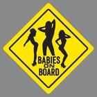 Sticker on a car Babies