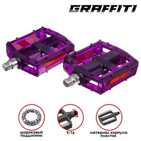 """Pedal HC-PD-072, without bearings, plastic, axle 9/16"""""""