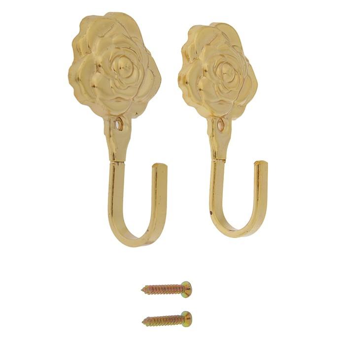 Крючок для штор KS001, однорожковый, цвет золото