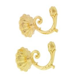 Крючок для штор KS006, однорожковый, цвет золото