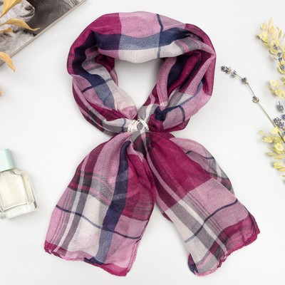 """Set """"Cell"""" (the women's scarf 90*90 cm, ring), the color purple"""