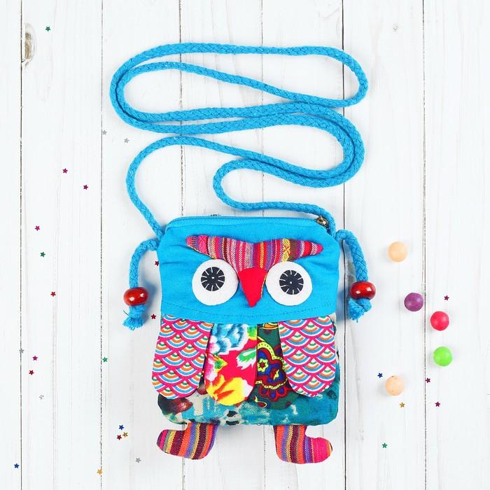 Мягкая сумочка «Совушка», лоскутная, цвета МИКС