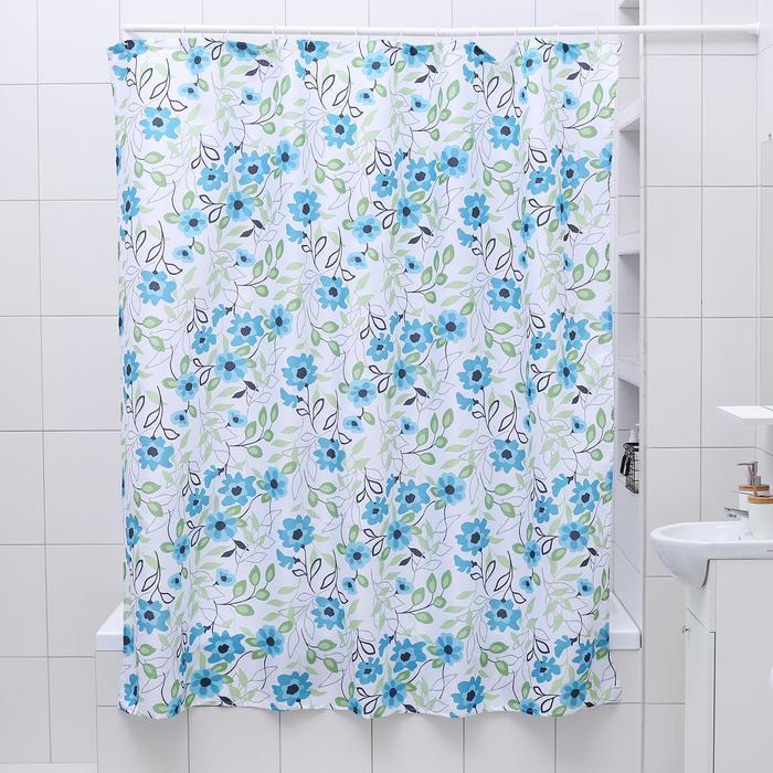"""Штора для ванной 180×180 см """"Лютики"""", полиэстер"""