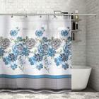 """Штора для ванной 180×180 см """"Розы"""", полиэстер"""