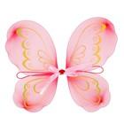 Карнавальные крылья «Бабочка» с узорами, для детей, цвет красный