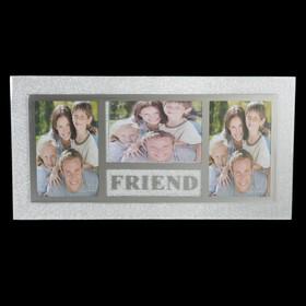 Фоторамка стекло на 3 фото 10х15 см Friend 21х41 см