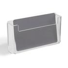 Подставка под визитки, 9,8*1,8*3,7 см, оргстекло 2 мм, в защитной плёнке