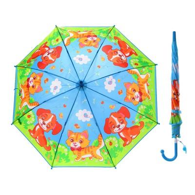 """Зонт детский """"Домашние животные"""", r=45 см, со свистком"""