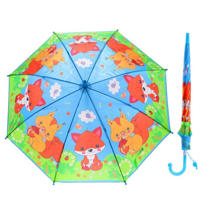"""Зонт детский """"Лесные животные"""", r=45 см, со свистком"""