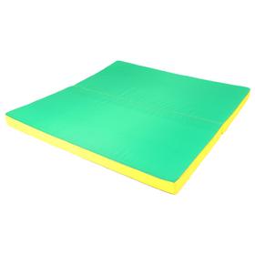 Мат 100 х 100 х 6 см, 1 сложение, oxford, цвет жёлтый/зелёный