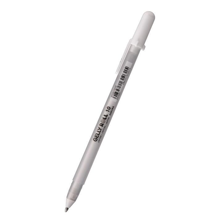 Ручка гелевая для декоративных работ Sakura Gelly Roll 1.0 мм белая