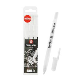 Ручка гелевая для декоративных работ набор 3 штуки Sakura Gelly Roll 0.5 мм белый