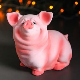 """Копилка """"Свинка Нюся"""", флок, розовый цвет, 24 см"""