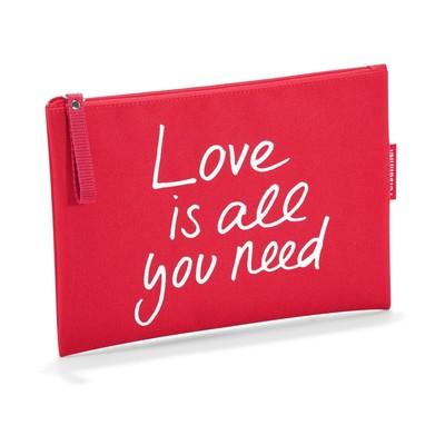 Косметичка love is all you need, размер 23х17 см, цвет красный LR0305
