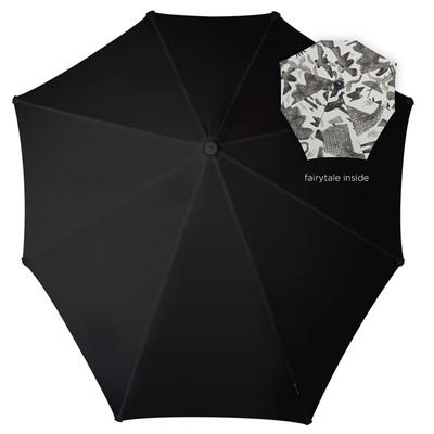 Зонт-трость, диаметр 90 см, цвет чёрный 2011104