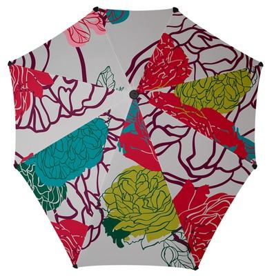 Зонт-трость, диаметр 90 см, принт цветочный 2011108