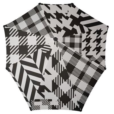 Зонт-трость, диаметр 90 см, цвет чёрный/белый 2011102