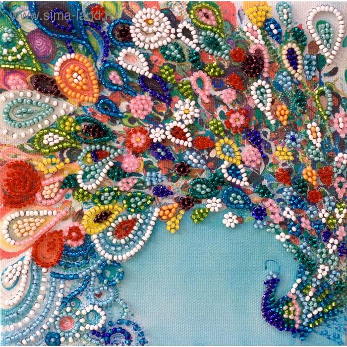 """Набор-мини для вышивки бисером на натуральном художественном холсте """"Красочный шлейф"""""""