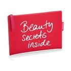 """Косметичка """"Beauty secrets inside"""", цвет красный"""