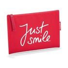 """Косметичка """"Just smile"""", цвет красный"""