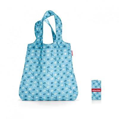 Сумка складная, размер 43,5 x 60 x 7 см, цвет голубой AT4060