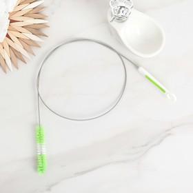 Ёрш гибкий 115×2 см, цвет бело-зелёный