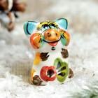 Сувенир «Поросёнок Малютка», 3 см, гжель, цвет