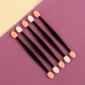 A set of applicators for eye shadow, 5pcs, 11,3 cm, color black