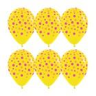 """Шар латексный 12"""" """"Цветы"""" пастель, 5 ст, набор 50 шт., цвет желтый"""