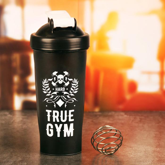 Шейкер спортивный «True gym» с шариком, 600 мл